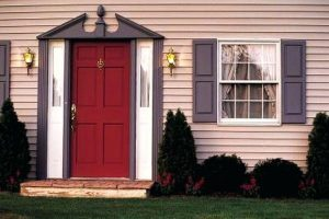 rerd door