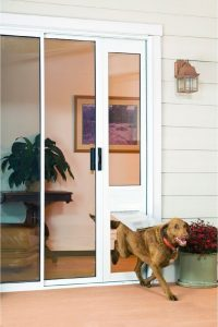 pet door on slider