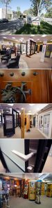 vertical filmstrip of showroom pictures
