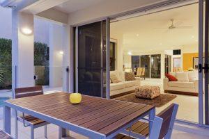 patio door and table