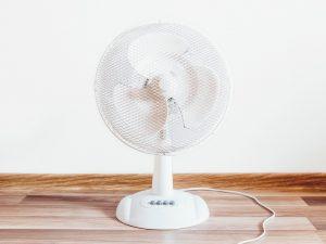 fan on table