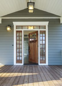 front door with surrounds