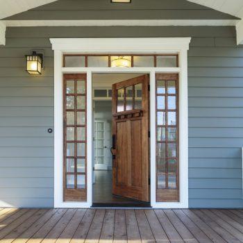 front door with surrounds