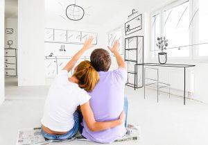 couple imagining home design