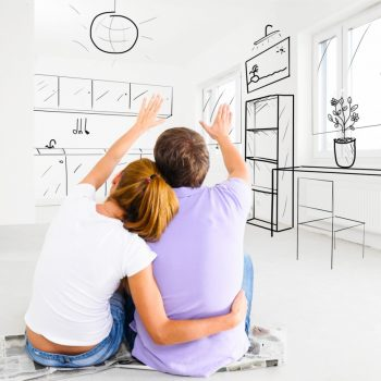 couple imagining home design