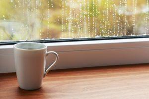cup nextt to window