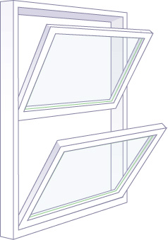 double hung window style
