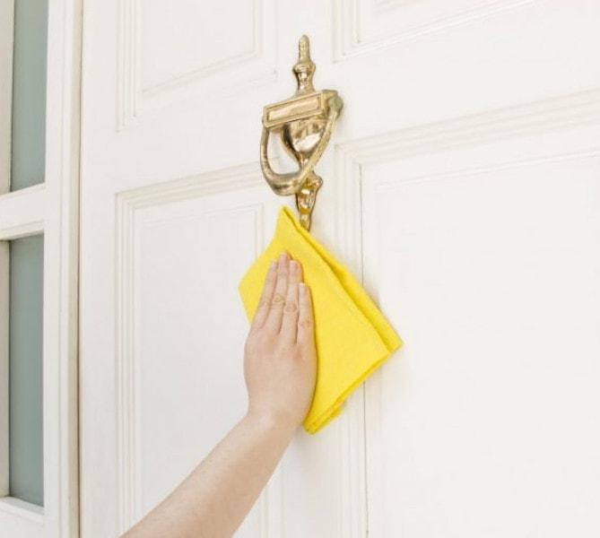 clean exterior doors