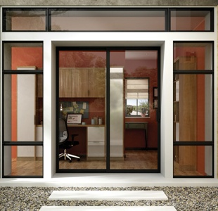 traditional sliding patio door