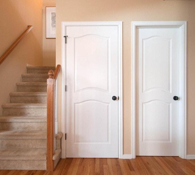 double panel interior door style